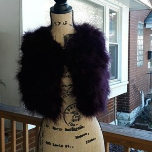 (EUC) FOREVER 21 PLUM FEATHERED VEST